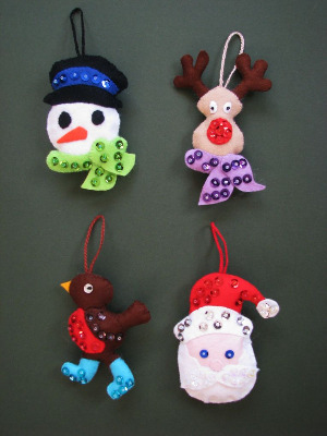 Christmas Characters Hanging Ornaments