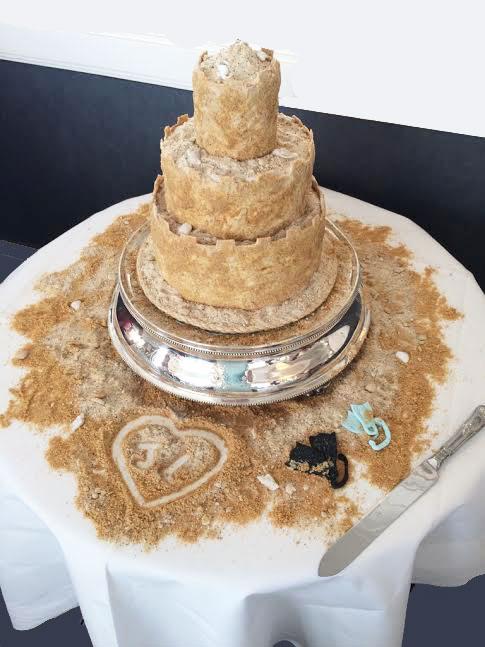 3 Tier Sand Castle Wedding Cake The Duke Of Cakes Blog
