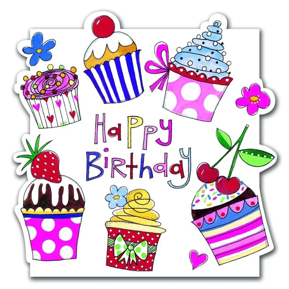 Cupcake Birthday Greeting Cards HAPPY BIRTHDAY Birthday Card CAKES Amp Baking BIRTHDAY Cards