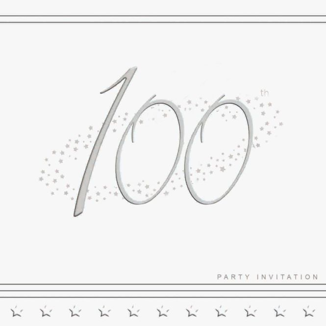 100th Silver Foil Birthday Party