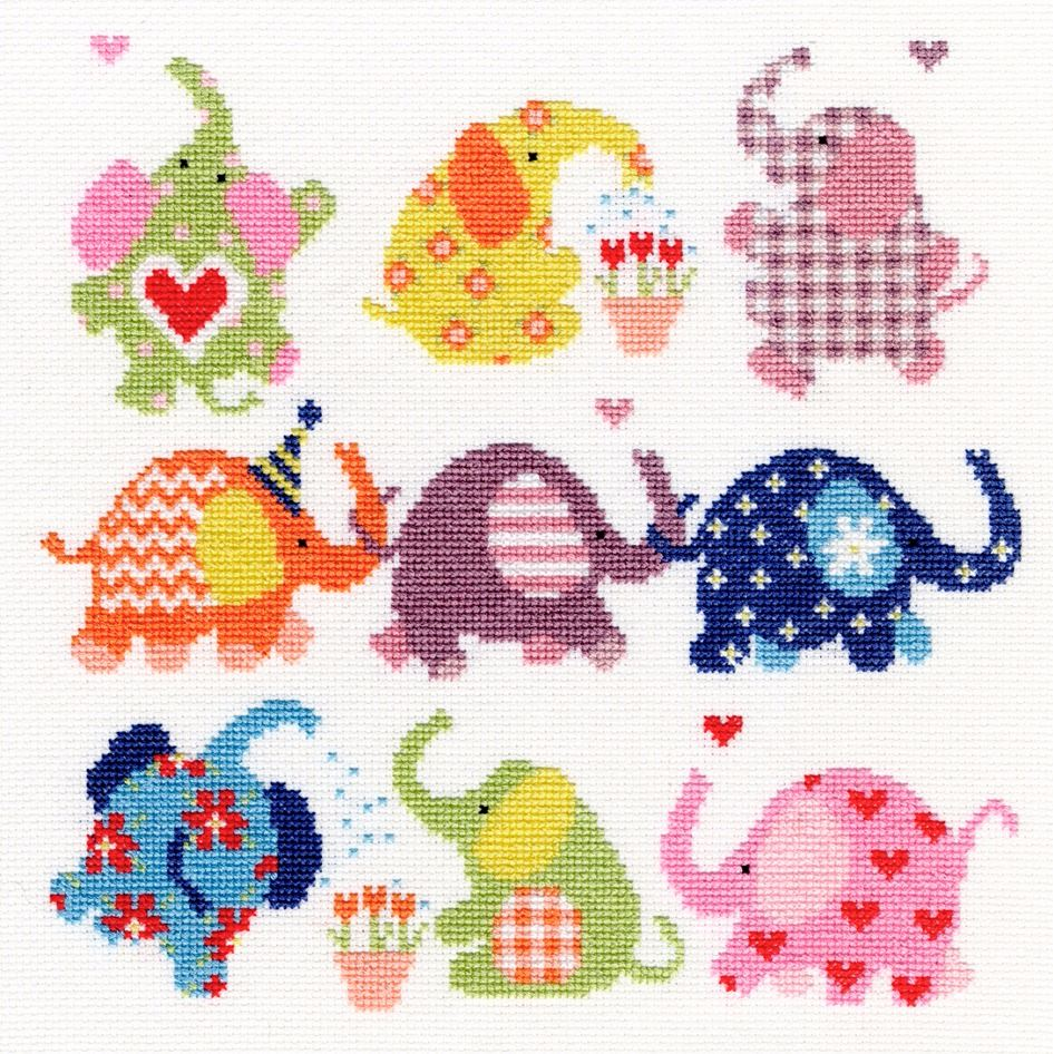 Sightly Dotty Elephants Bothy Threads