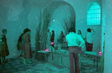 1976. At Galleria Mario Pieroni. Pescara, Italy . Edinburgh Arts 1976.