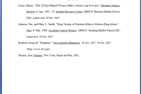 sample works cited page 8th edition sample of application letter