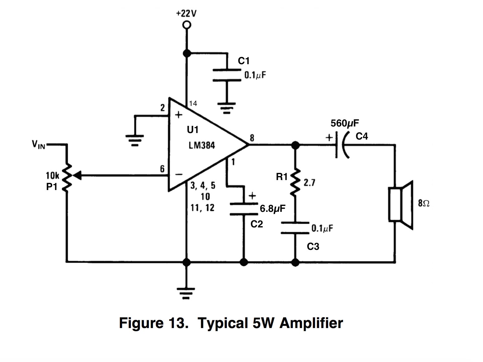 Capacitor For Amplifier