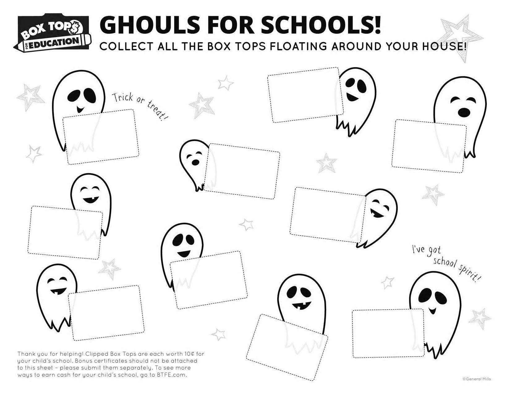 October Boxtop Collection Sheet