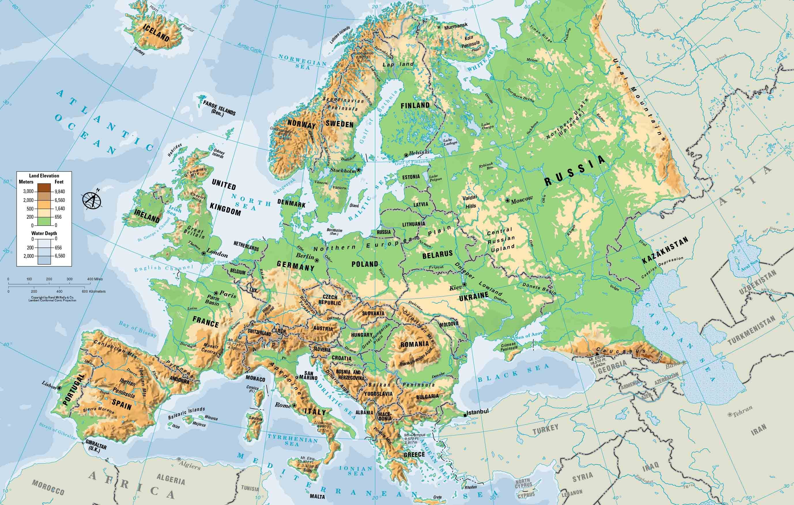 Geography Printable Maps Europe