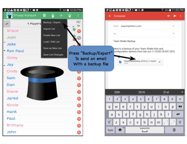 Team Shake Help (Android Version) – Rhine-o Enterprises LLC