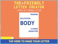 Friendly Letter Maker