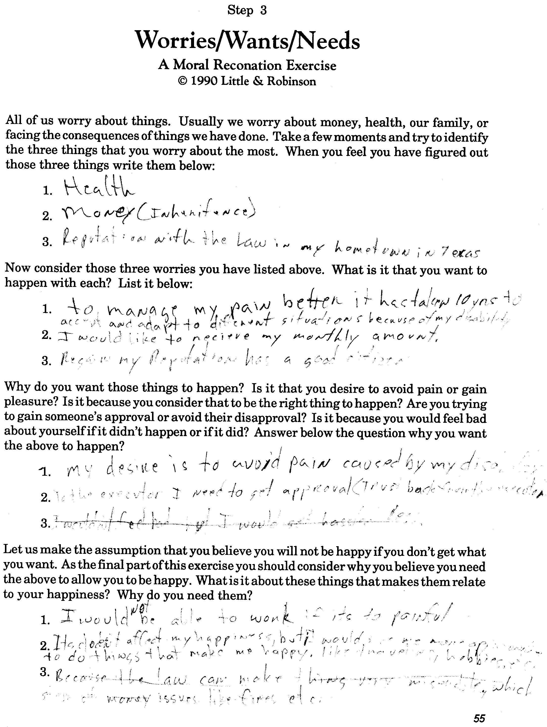 Aa Second Step Worksheet