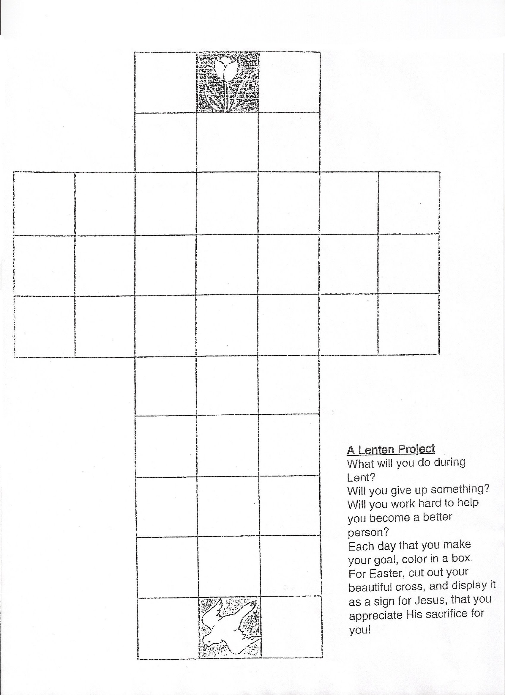 Lenten Promise Worksheet