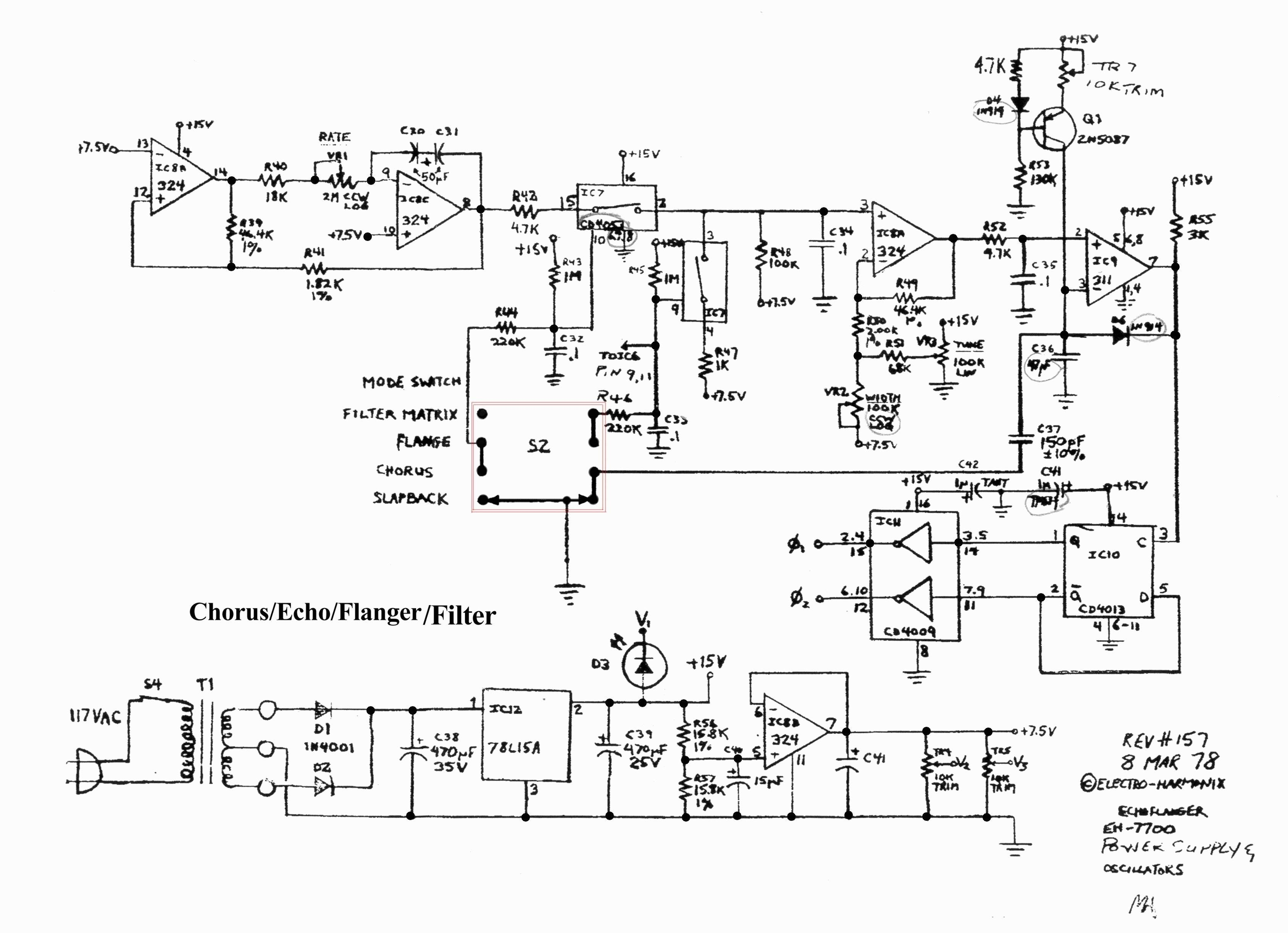 Wah Wah Pedal Schematic