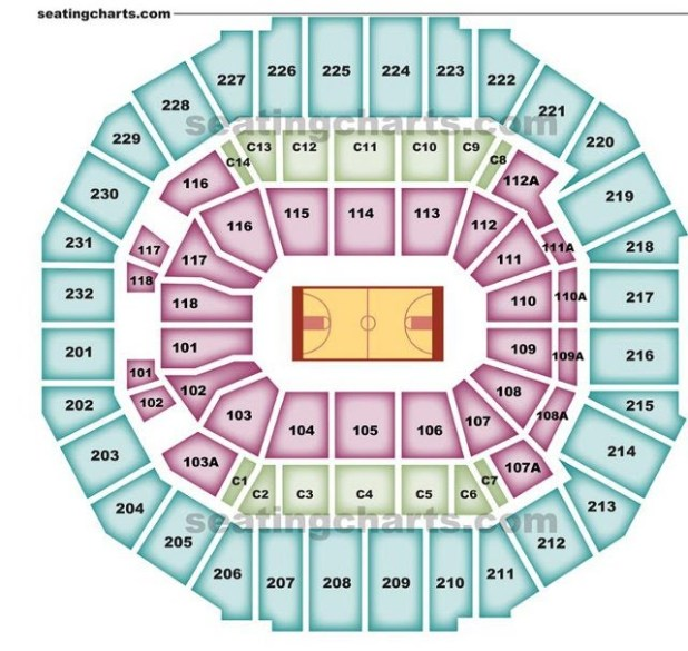 Memphis grizzlies seating chart for Table seating for 20