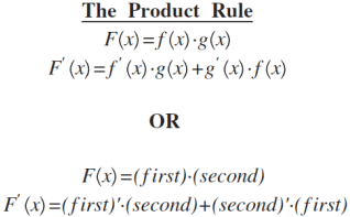 Image result for the product rule