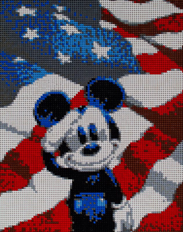Tales of the Flowers  Lego Mickey Mouse Mosaic I had wanted to make some sort of Lego mosaic for a while now  but I  couldn t figure out what kind of source picture I wanted to use