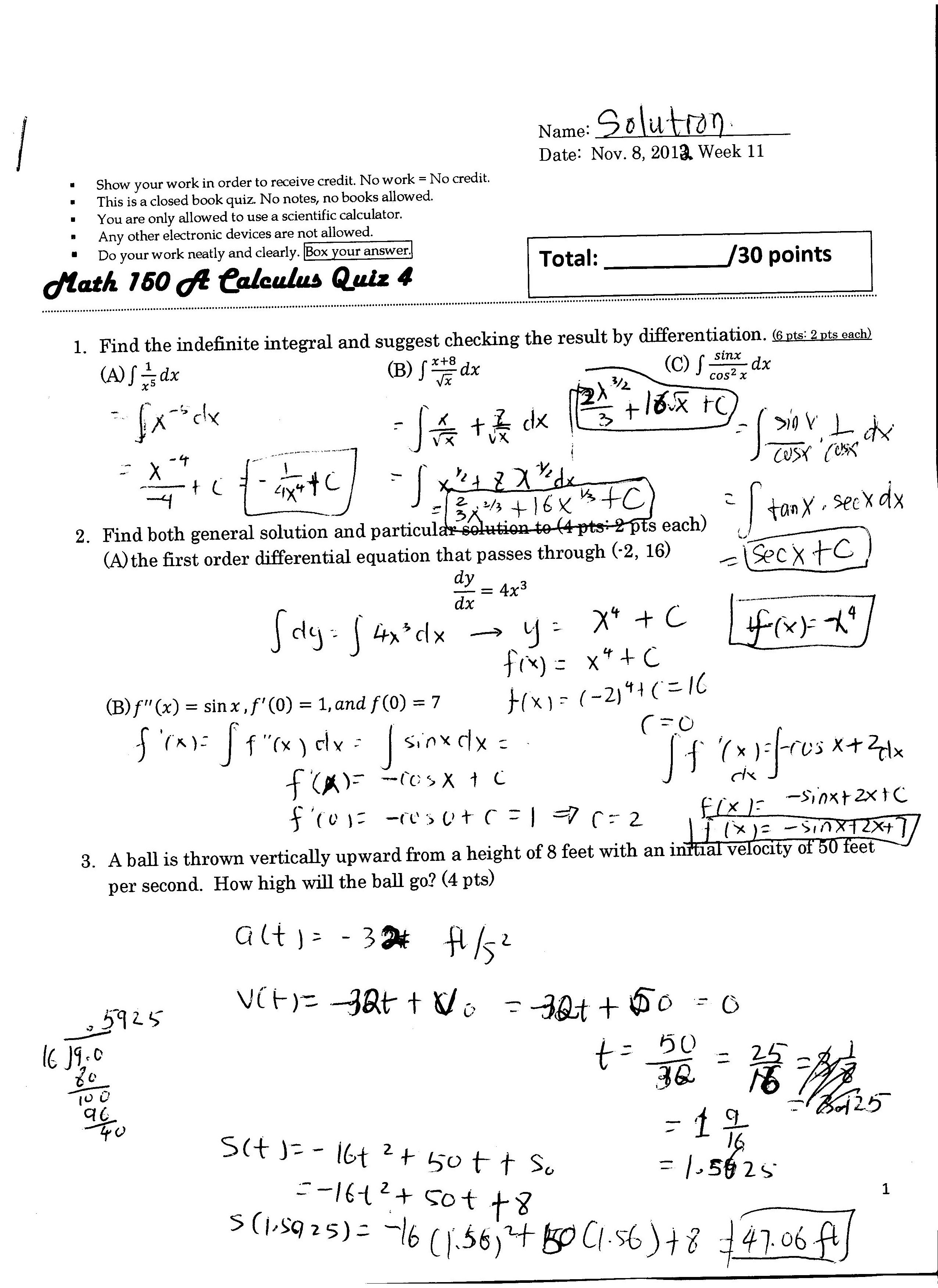 Quizzes Amp Exams Solutions