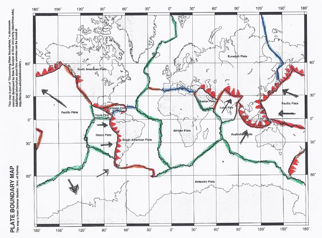 Detailed Plate Boundary Map