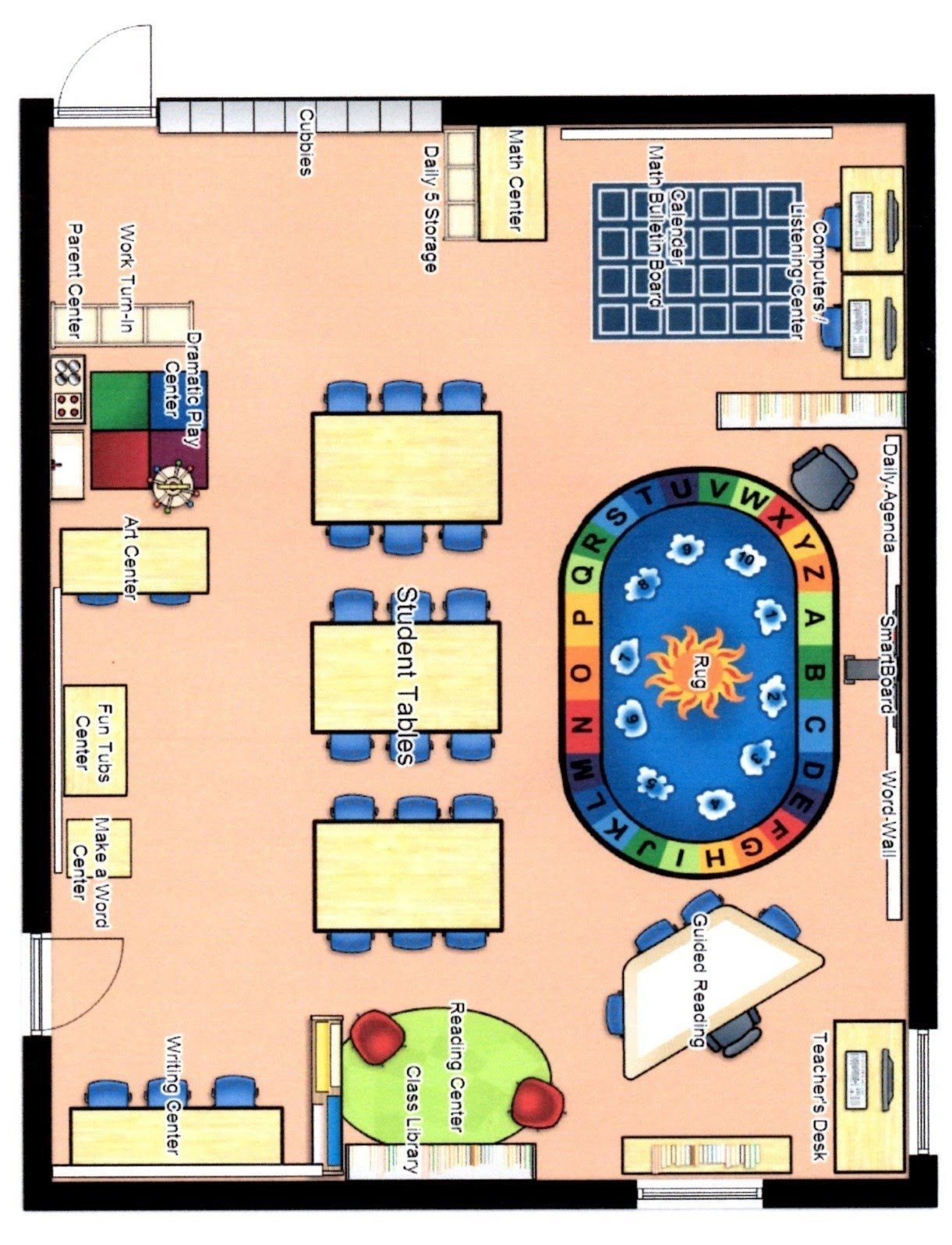 one year old classroom layout. Black Bedroom Furniture Sets. Home Design Ideas