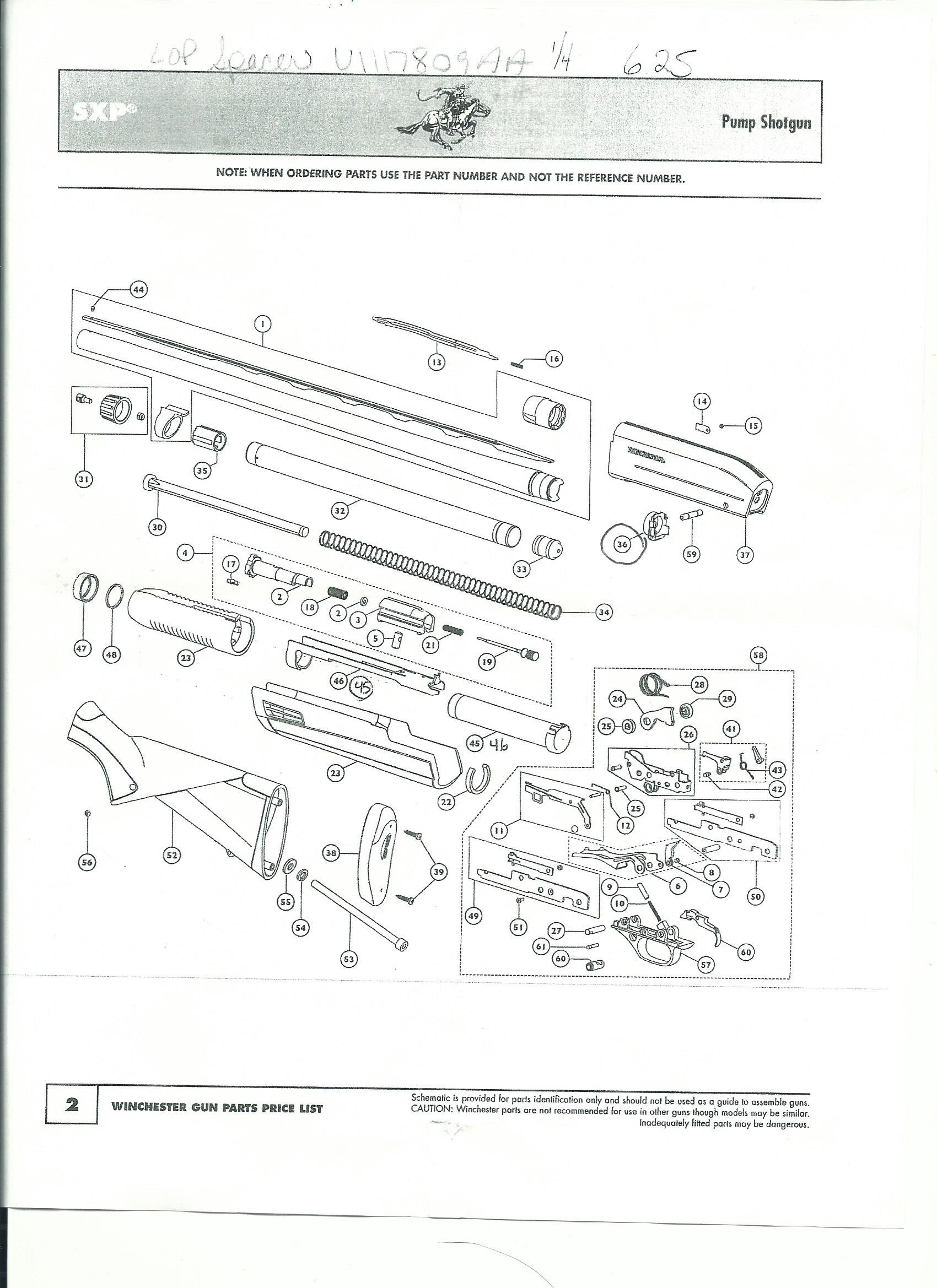 Winchester Pump Shotgun Sxp Parts Diagram