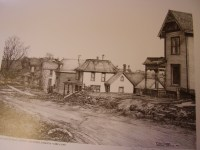 A photo of 1903 East side of Main Street as depicted by Roanoke artist, Bob Rose