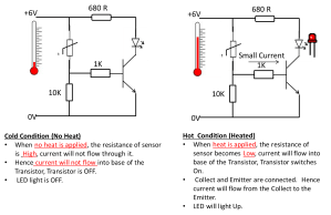 How Thermistor works in a circuit  ELECTRONICS