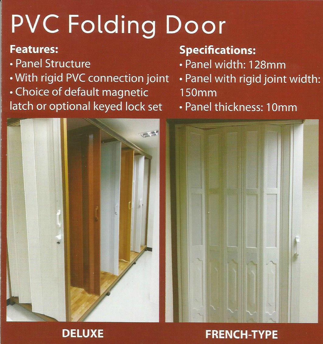clover pvc folding door