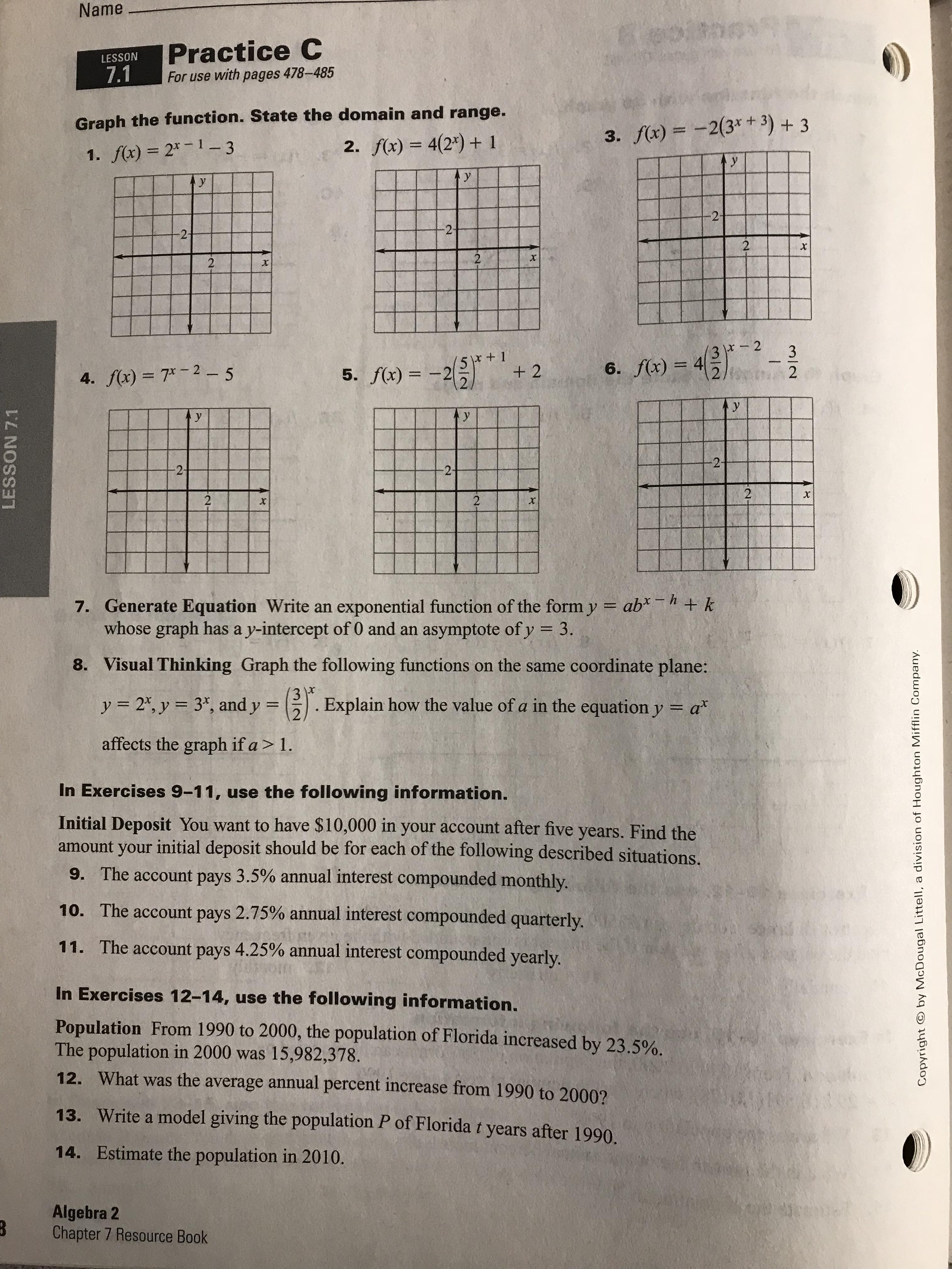 Honors Algebra 2