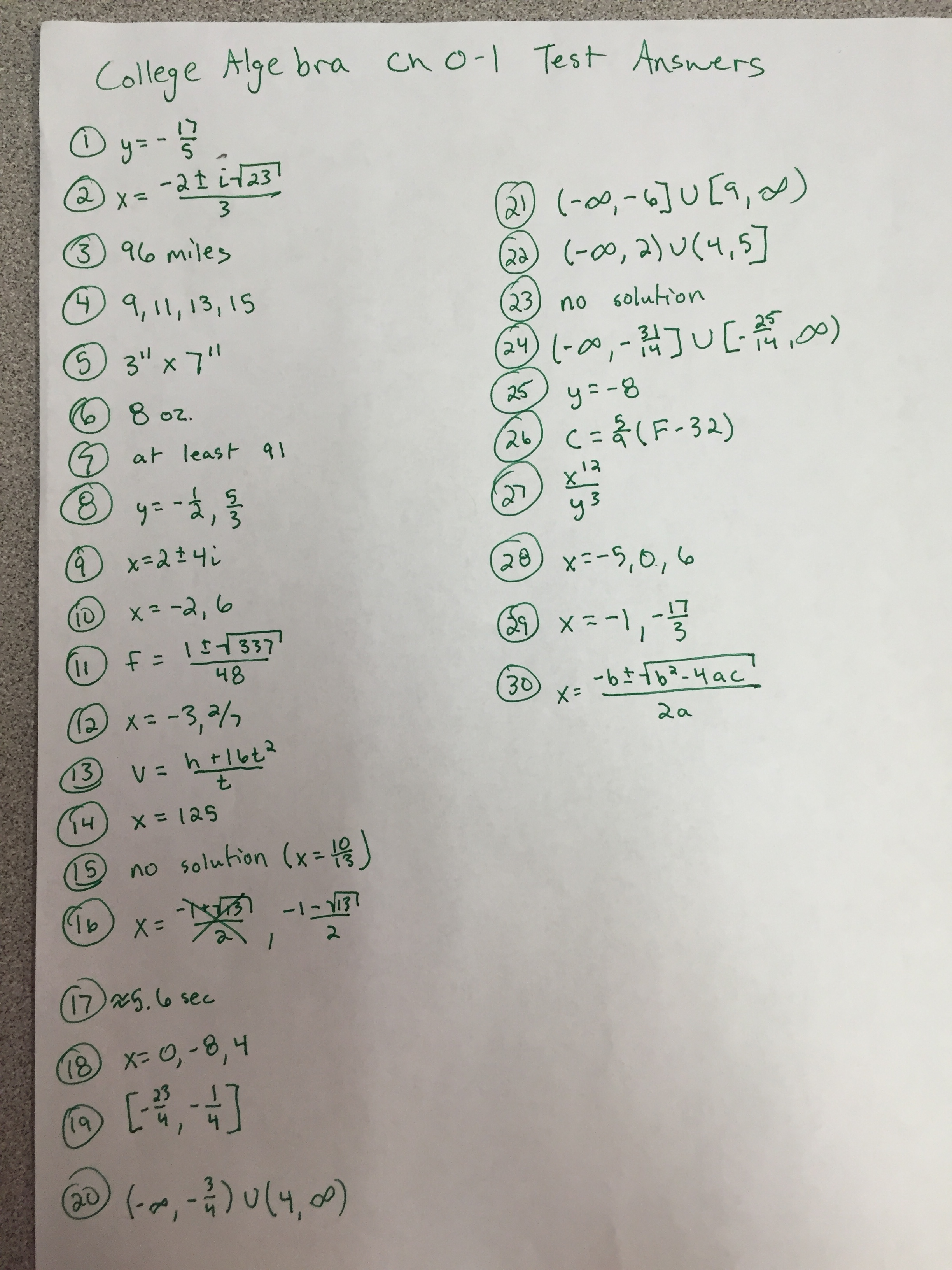 College Algebra Linear Equations Worksheet