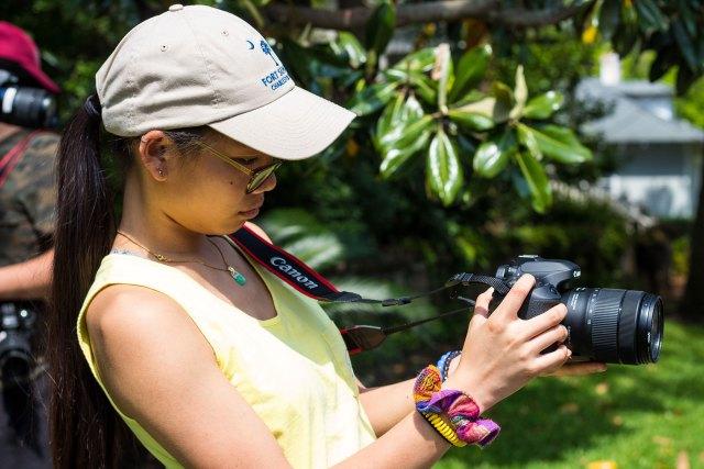 Melissa Fronczek looks into a camera