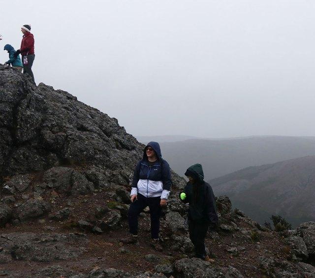 Students on a mountaintop in Ecuador