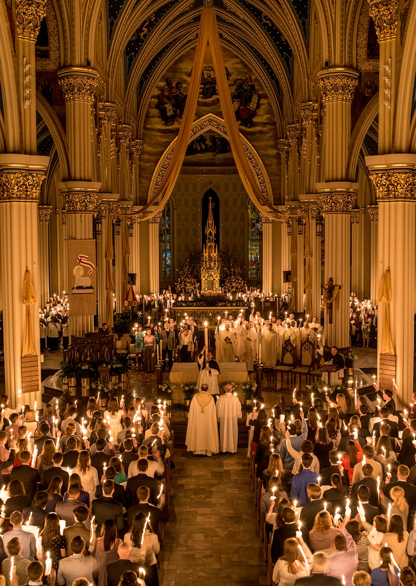 Easter Vigil 2015 Notre Dame Photography