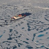 German R/V Polarstern icebreaker at North Pole