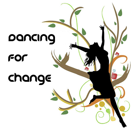 The logo for the Dancing for Change radio show