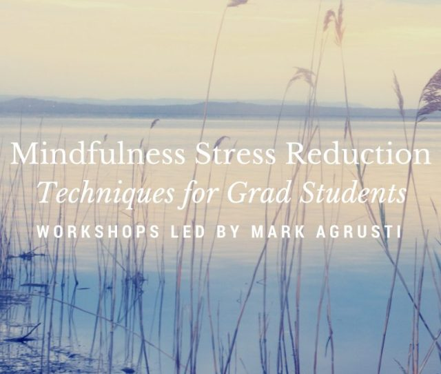 For This The Coegsc Is Organizing Stress Reduction Workshops October 9th And 12th From 600 730 In Ferguson 210