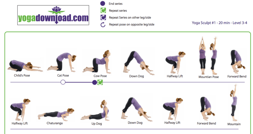 Yoga Poses For Beginners At Home Chart 1000 Ideas About