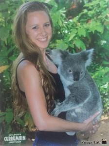 Holding a koala!