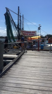 Boardwalk to get fresh fish straight off the boat