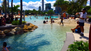 Beach/pool area in South Bank