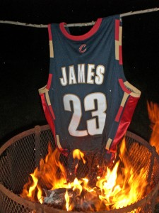 The Burning of Lebron James' Jersey