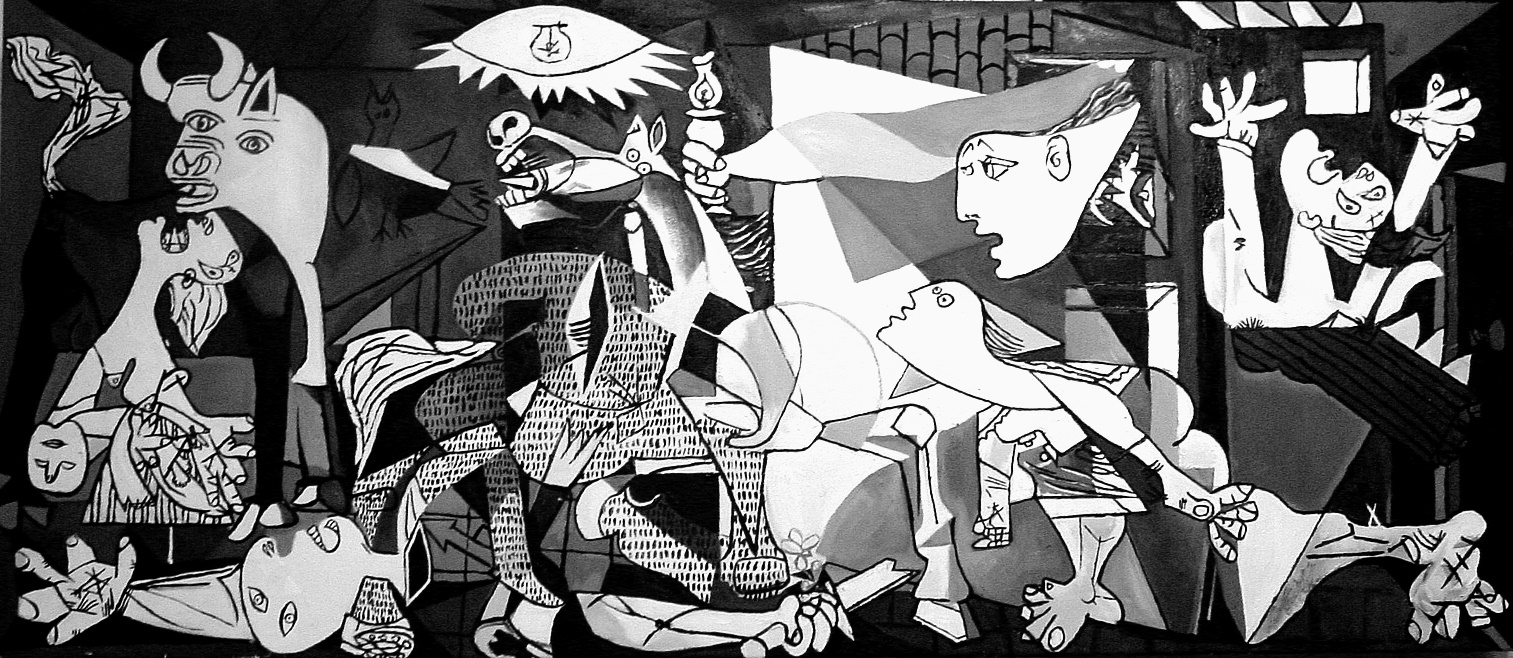 Image result for image of full painting of Guernica
