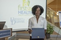 Shots of First Step presentations at the STAR atrium