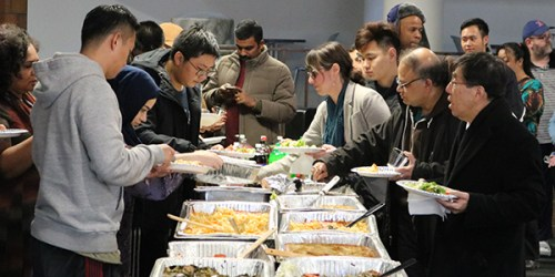 International students treated to an American tradition