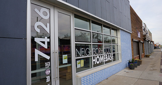Neighborhood HomeBase opened on McNichols Road near Livernois Thursday. It's designed to be a space for neighborhood meetings and a resource for revitalization of the area.