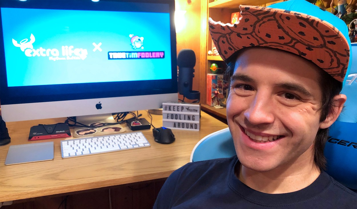 Timmy Nelson and his game computer