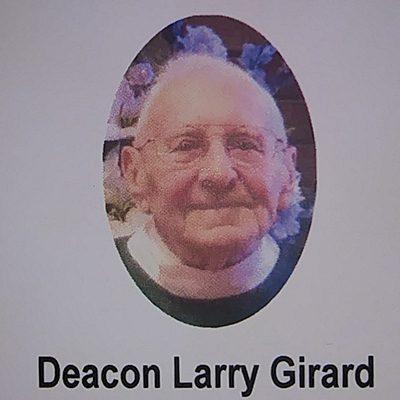 Larry Girard in clerical garb