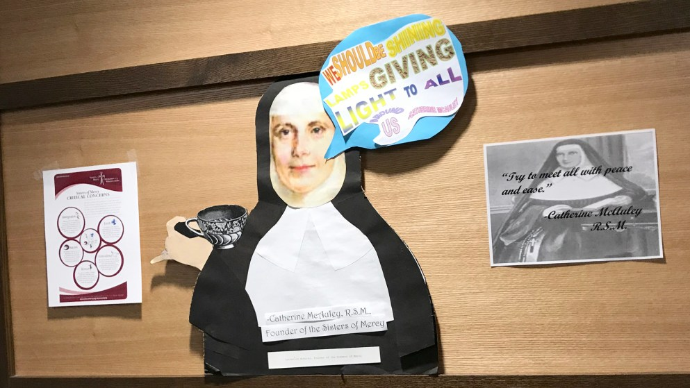 Poster display of Catherine McAuley at Mercy Day 2018