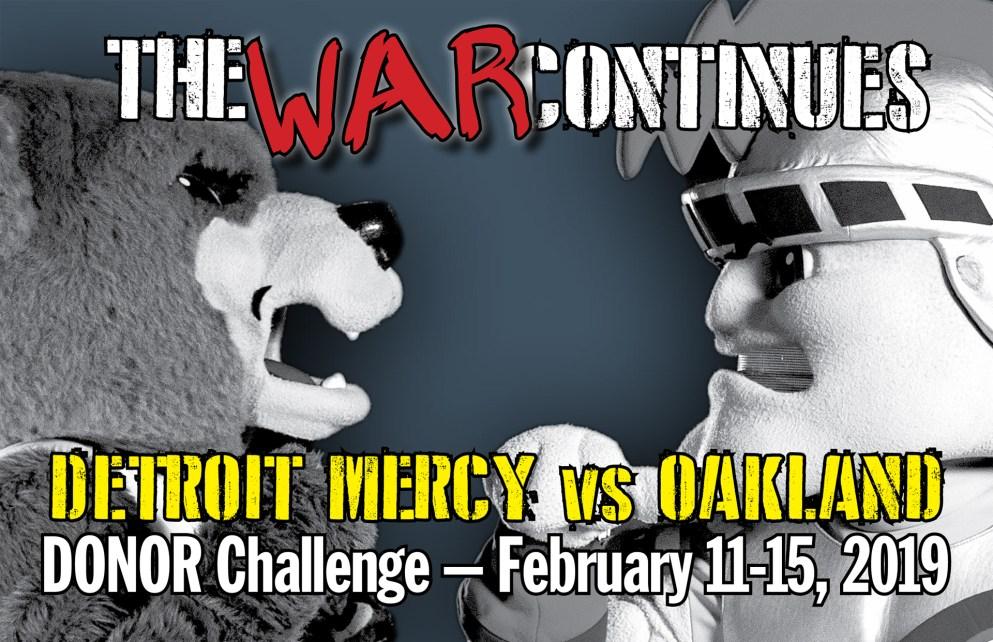 Detroit Mercy vs. OU Donor Challenge buckslip
