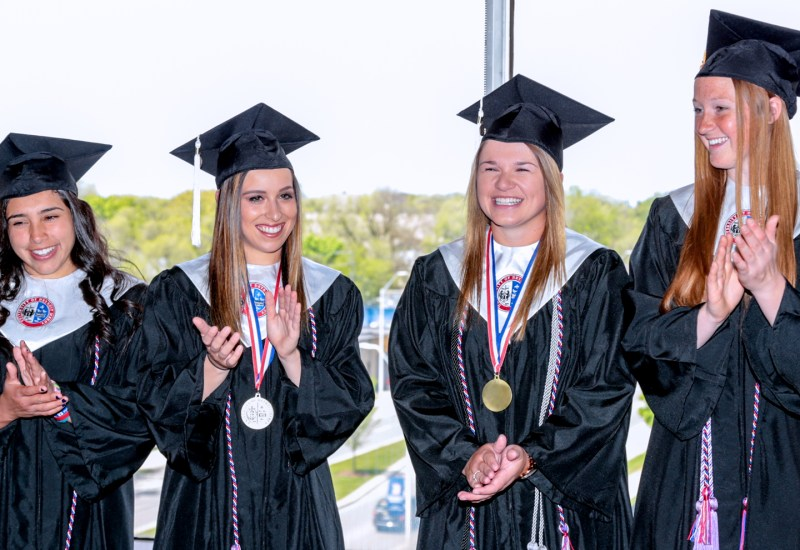 A special commencement for Detroit Mercy softball team
