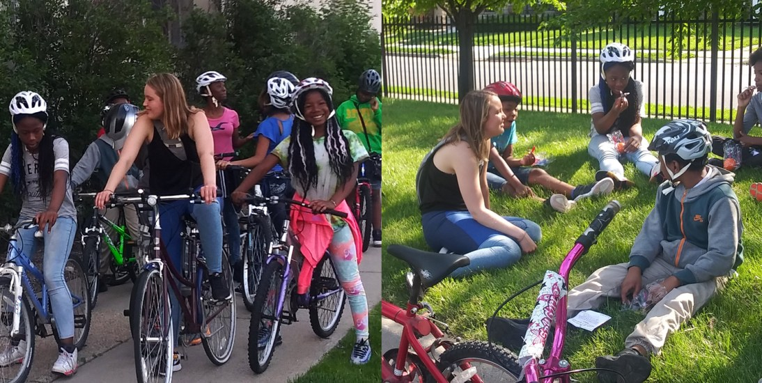 Summertime field trip: Middle school cycles to campus