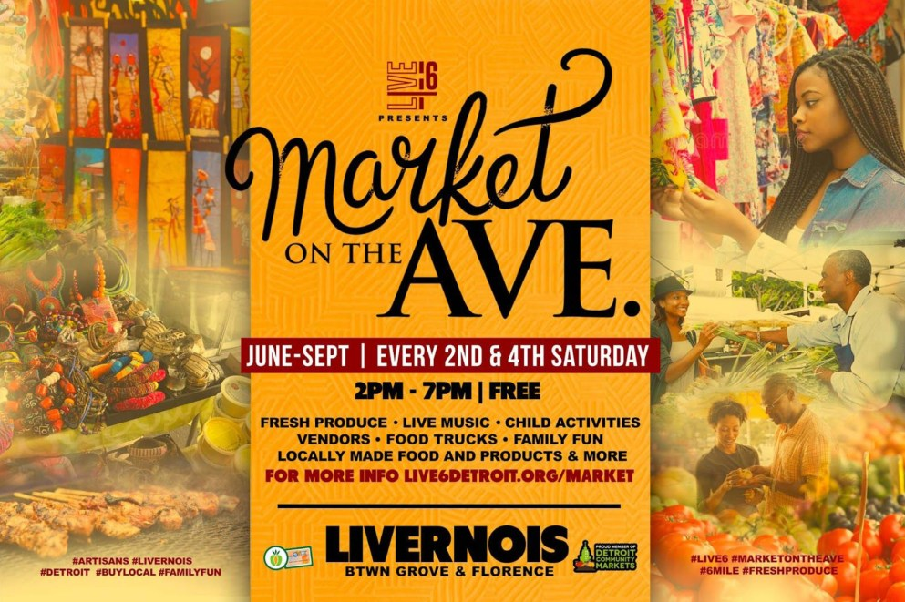 2019 Market on the Ave Live 6 Poster