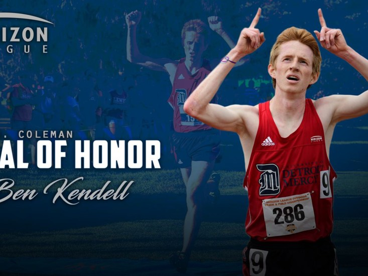 Ben Kendell honored with Horizon League's Cecil N. Coleman Medal of Honor